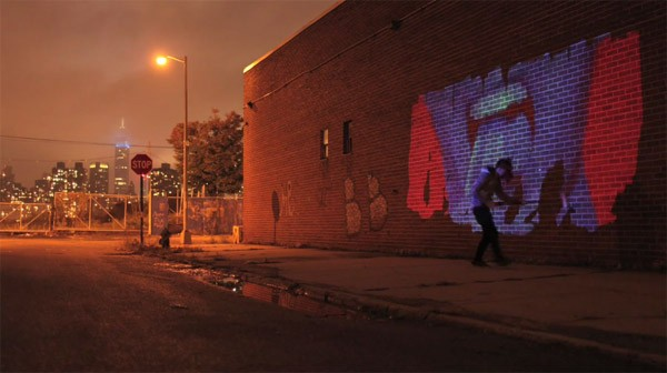 Technokunst: graffiti met video