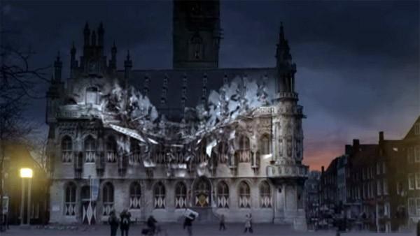 Prachtig: 3D-projectie op gebouwen