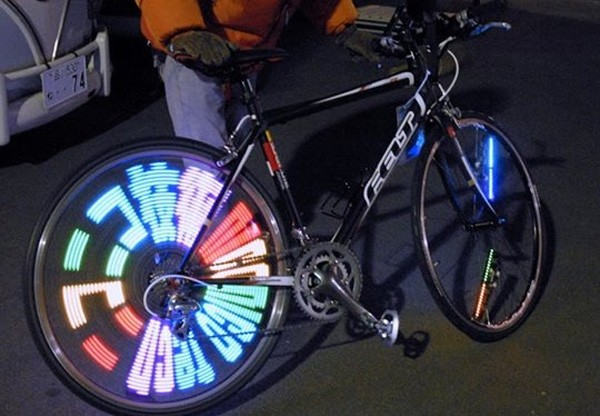 Fietswiel wordt LED-display