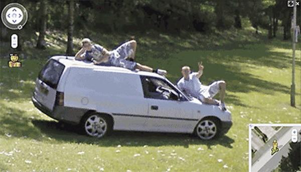 Wat te doen bij het zien van een Google Streetview auto