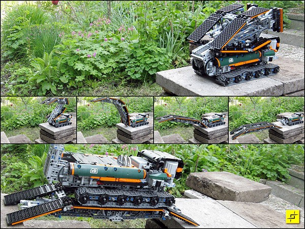 Lego-machine bouwt zijn eigen brug