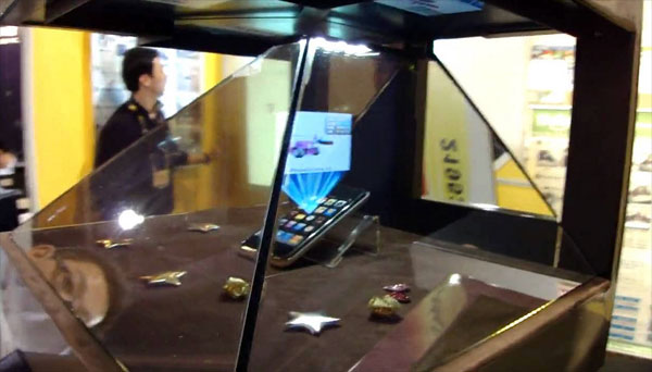Bijzonder display vertoont 3D-hologrammen