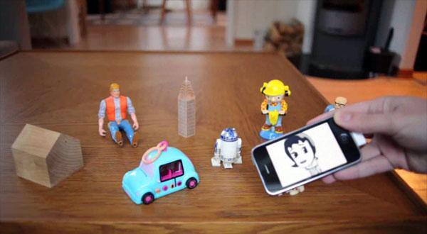 Een iPhone gecombineerd met een RFID-lezer