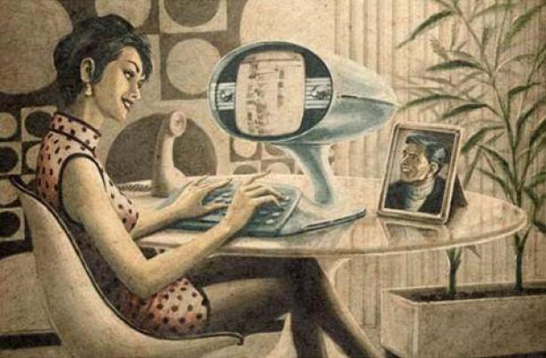Vintage-posters van Facebook, Twitter en Youtube