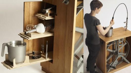 R2B2 keukenmachine werkt op spierkracht