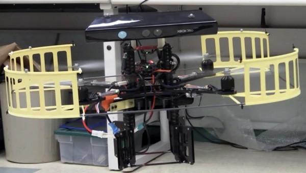Kinect-sensor helpt quadrotor