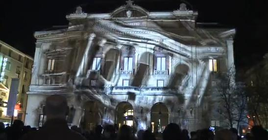 Prachtige visuals op gebouwen in Lyon