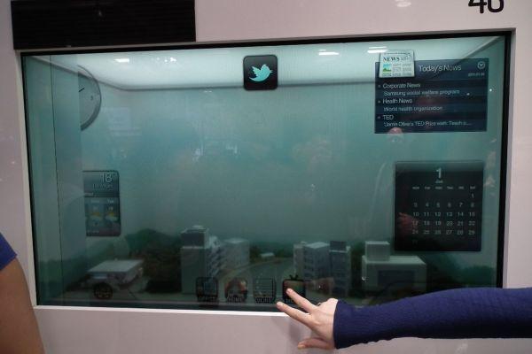 Samsung LCD-TV is doorzichtig en werkt zonder stopcontact