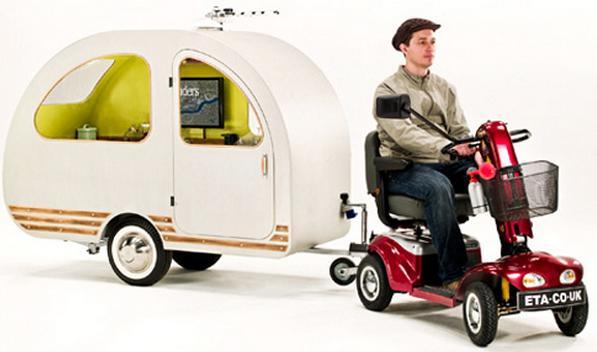 QTvan: kleinste caravan ter wereld