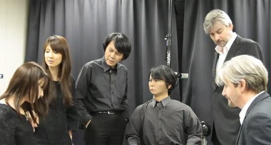 Een ontmoeting van robot-klonen