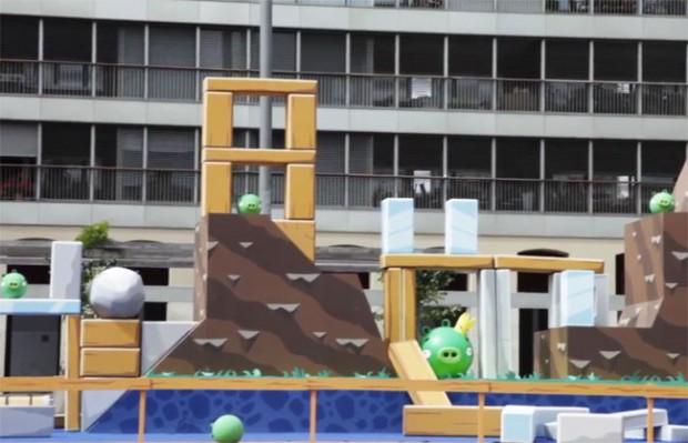 Angry Birds, maar dan in het echt