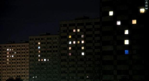 Appartementencomplex verandert in lichtshow