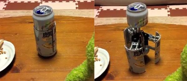 Robot in een blikje bier