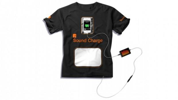 T-shirt laadt smartphones op met geluidgolven