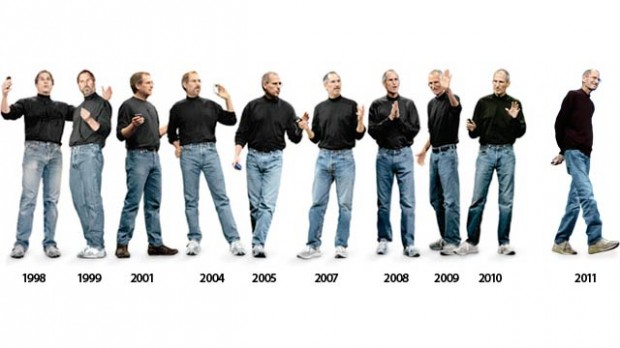 De evolutie van de kleding van Steve Jobs