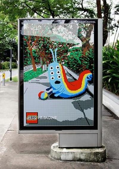 Creatieve billboards van Lego