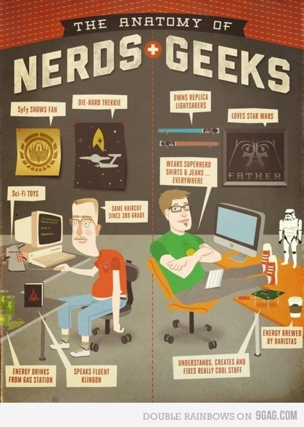 Het verschil tussen nerds en geeks
