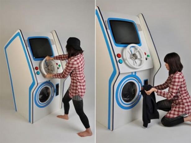 Wasmachine en arcadekast in één