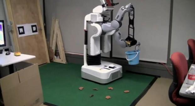 Robot ruimt poep op