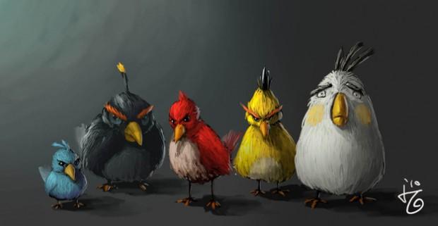 Angry Birds kunst door fans