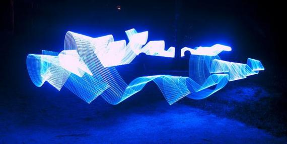 Lightpainting van Nederlandse bodem
