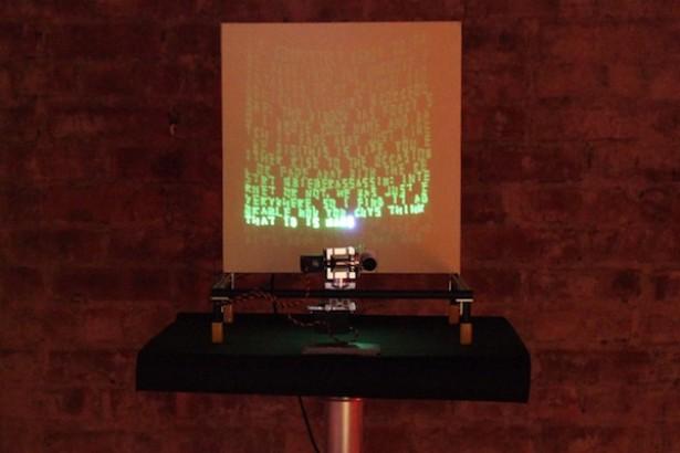 Combinatie van Arduino, Twitter en lasers wordt kunst