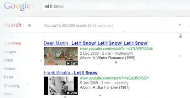 Google laat het sneeuwen