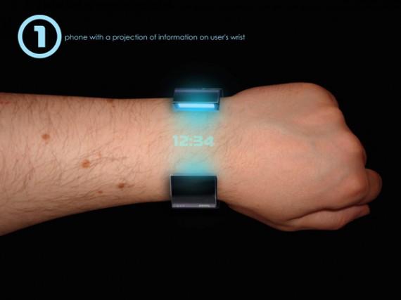 Futuristisch horloge projecteert de tijd op je pols