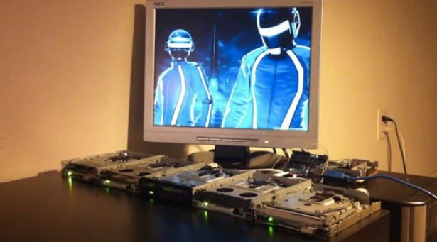 Daft Punk op floppy drives
