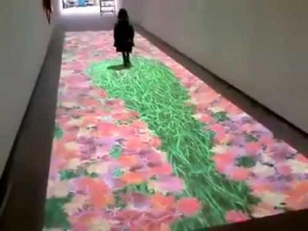 Interactief digitaal tapijt