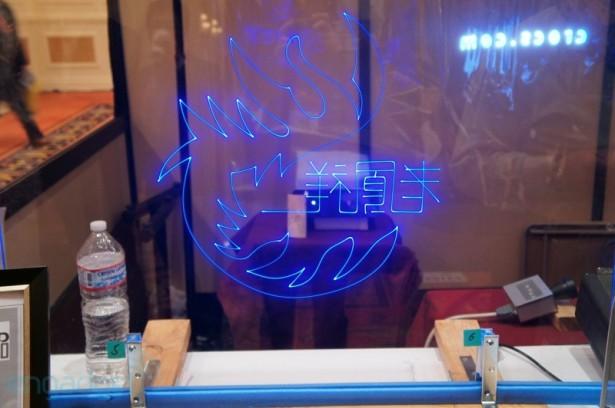Doorzichtig laser-display
