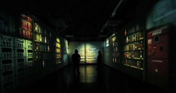 3D-projectie door Coca Cola