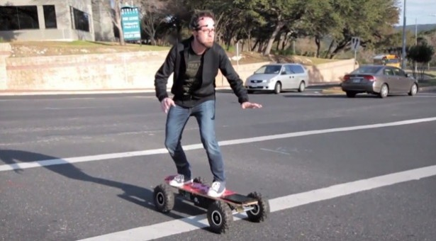 Bestuur een skateboard met je hersenen