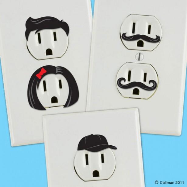 Stickers voor het stopcontact