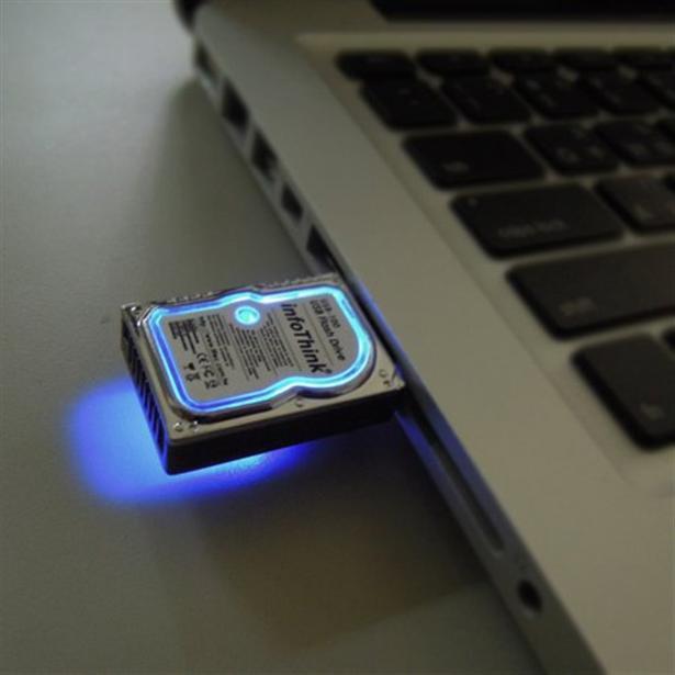 USB-stick in de vorm van harde schijf