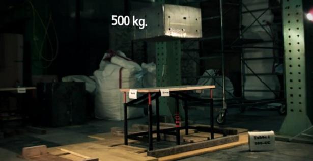 Oersterke tafel is bestand tegen aardbevingen