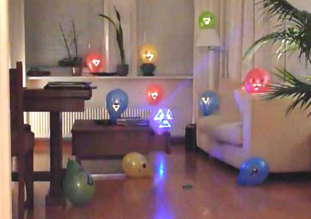 Ballonnen schieten met lasers