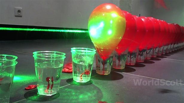 Ballonnen schieten met lasers (2)