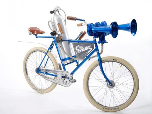 Hornster: fiets met enorme toeter
