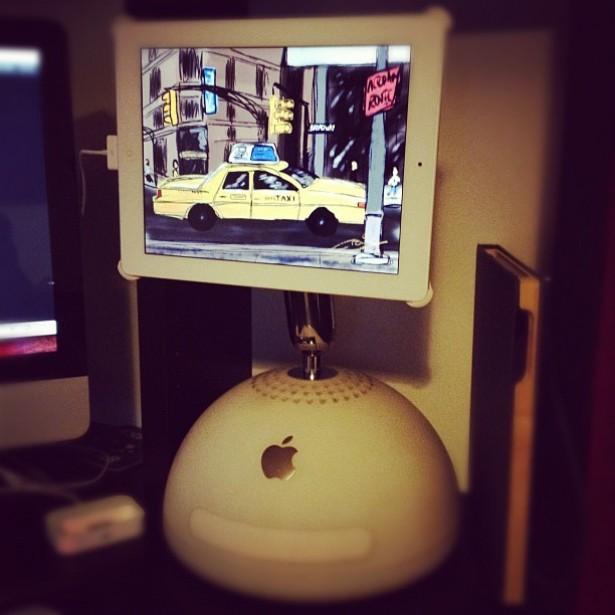 Oude iMac wordt iPad-standaard