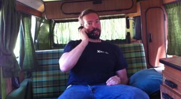 VW-bus met intercom
