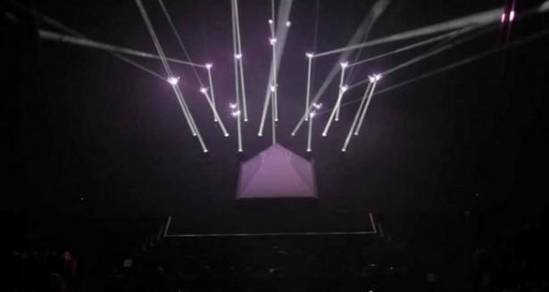 Quadrotors geven lichtshow