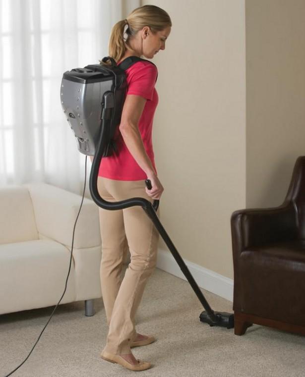 Een stofzuiger voor op je rug