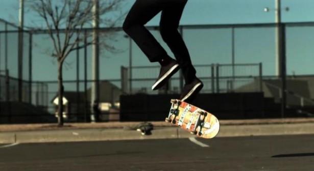 Slow-motion: skateboard-trucs