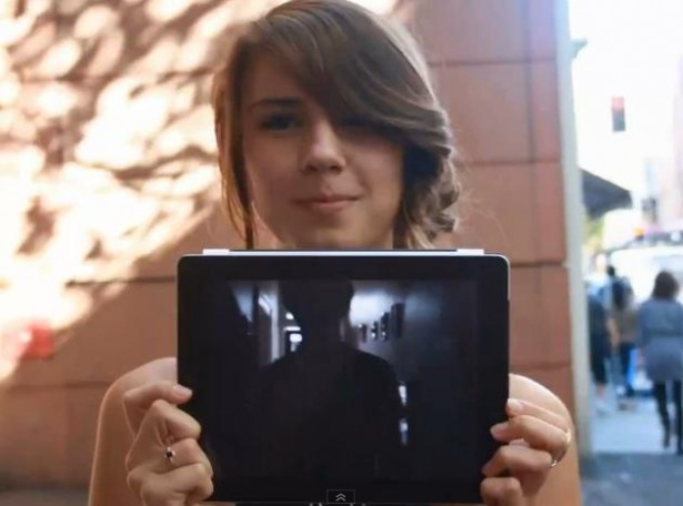 500 meisjes met een iPad