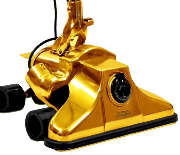 Een stofzuiger van goud