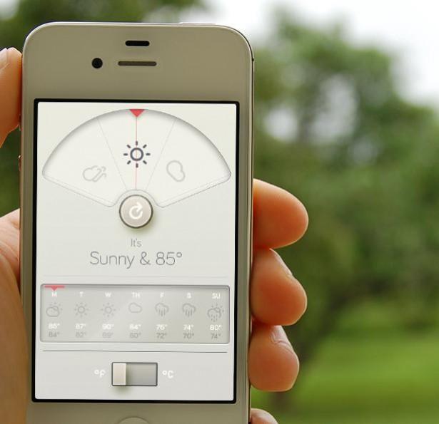 Altijd mooi weer met app voor iPhone