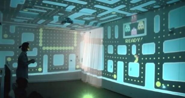 3D Pac-Man vult de hele kamer