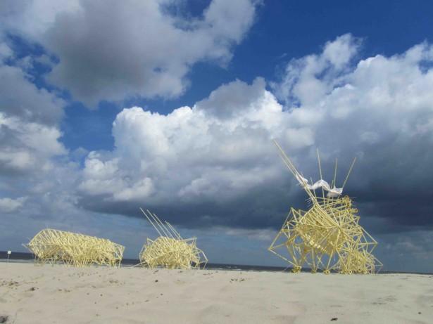 Nieuwe strandbeesten van Theo Jansen