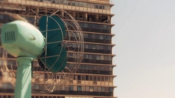 Enorme ventilator werkt op zonne-energie